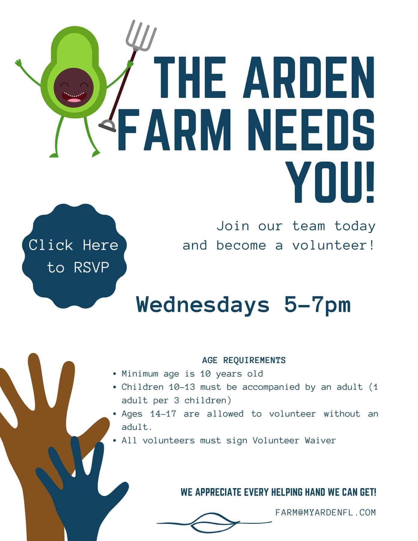 The Arden Farm Needs You
